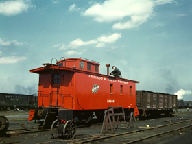 Chicago and Northwestern RR Caboose, 1943