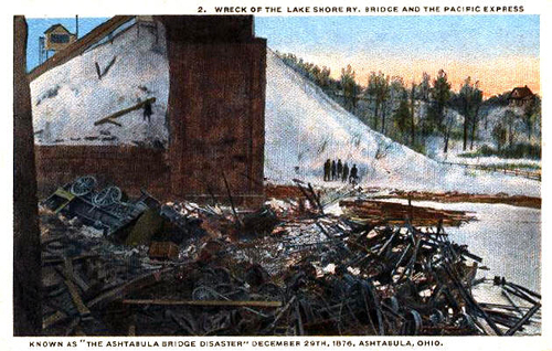 Wreck of the Pacific Express Ashtabula Bridge Disaster, Ashtabula, Ohio, 1876