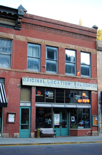 Original site of Number 10 Saloon in Deadwood, South Dakota