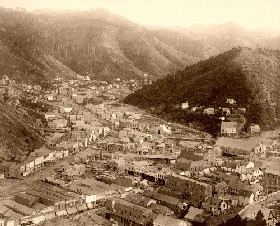 Deadwood from Mt. Moriah in 1888