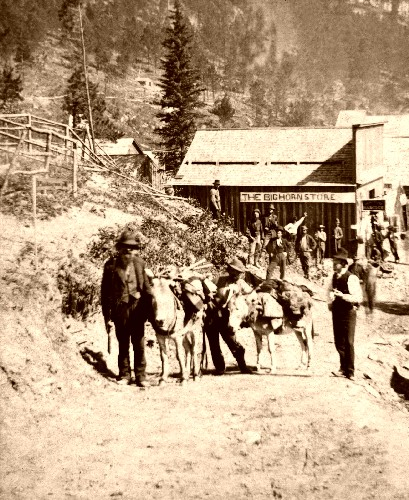 Deadwood, South Dakota from the south, 1876, photo