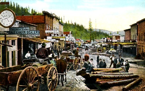 Deadwood, South Dakota in 1876