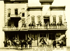 The Gem Theater in Deadwood, South Dakota in 1878.
