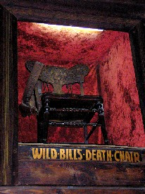 Wild Bill Hickok's alleged death chair in the Number 10