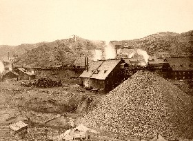 Homestake Mine outside Deadwood, South Dakota, 1889