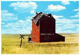 Okaton Grain Elevator postcard
