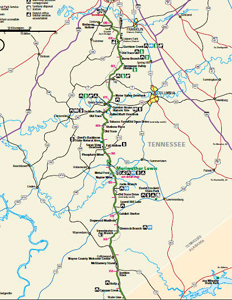 Natchez Trace Tennessee Map
