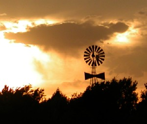 Windmill along Amarillo Boulevard