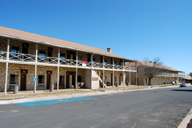 Fort Clark cavalry barracks