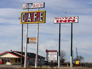 Jesse's Cafe on Route 66 in Wildorado, Texas