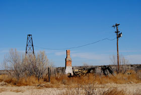 Remains along the railroad tracks in Dryden, Texas