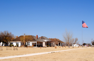 Officers Row, Fort Stockton. Photo by Kathy Weiser-Alexander, 2011.