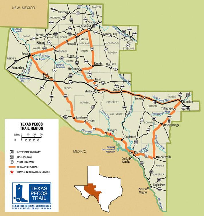 Pecos Texas Map