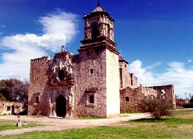 San Juan Mission in south San Antonio, Texas