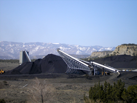 Active coal mining in Carbon County, Utah