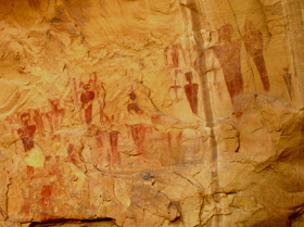 Rock art in Sego Canyon