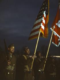 Color guard, Fort Belvoir, Virginia about 1941