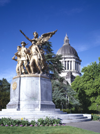 Olympia, Washington Capitol and WWI Statue