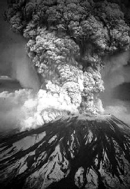 Mt. St. Helen's erupting in 1980.