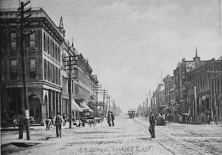 Cheyenne Wyoming, 16th Street looking East, C.D. Kirkland 1890