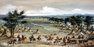 Rocky Mountain Rendezvous by William Henry Jackson