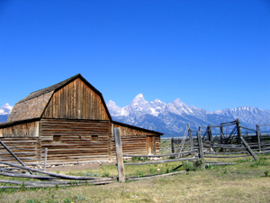 John Moulton Barn, Grand Tetons, Wyoming