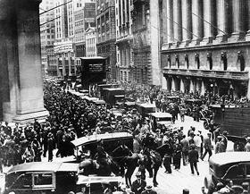Black Tuesday on Wall Street, New York City
