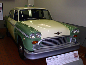 Last Checker automobile produced, 1982. September 2, 2007 by Kevin S. Forsyth