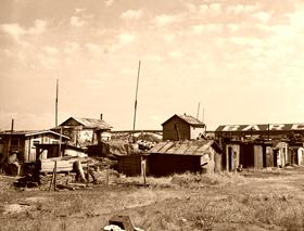 Hooverville in Portland, Oregon, 1936
