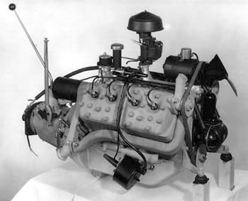 An early experimental Ford V8 engine with some unusual features that never saw production.