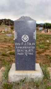 Reverend Tolby Grave, Cimarron, New Mexico