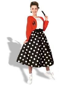 1950s Polk a dot skirt