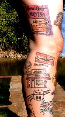 Ron Jones Tattooed Leg