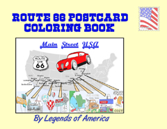 Route 66 Postcard Coloring Book from Legends of America