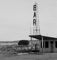 An old bar in the ghost town of Correo, New Mexico.