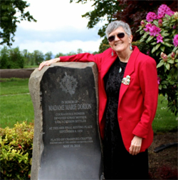 Author Lenora Good at May 10, 2014 plaque dedication