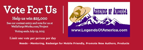 Vote For Legends of America!