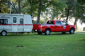 At an RV Park in Dayton, Iowa