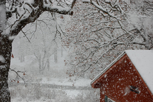 November Snow at our House on the Lake of the Ozarks, 2014