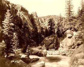 Devil's Curve, Big Thompson Canyon, Estes Park, Colorado, 1909