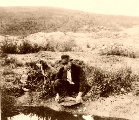 Gold Panning in the Old West