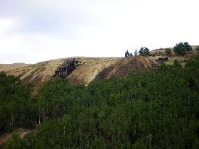 Mine buildings in Victor, Colorado area