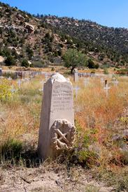 Tombstone in Dawson, New Mexico