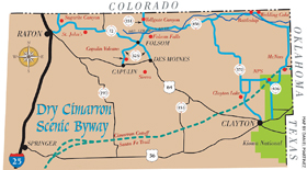 Dry Cimarron Byway Map