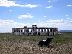 Fridgehenge in Santa Fe, New Mexico