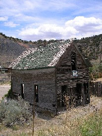 Old company house in Madrid, New Mexico