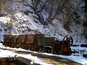 Mining Cars at Mogollon, New Mexico