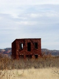 Old Hendren stone house  in Montoya, New Mexico, by Kathy Weiser - 2004