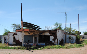 Wilkerson's Store and Gulf Gas Station in Newkirk, New Mexico
