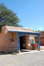 A colorful shop in Ranchos de Taos, New Mexico
